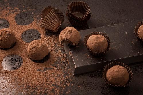 12 Handmade Classic French Chocolate Cocoa Truffles