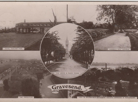 Postcard featuring the Windmill Hill Gardens