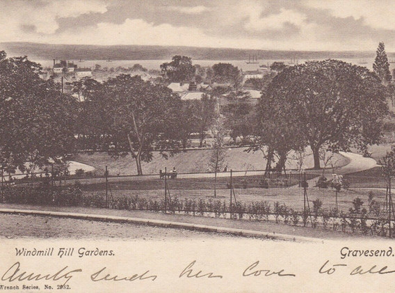 Postcard of the Windmill Hill Gardens
