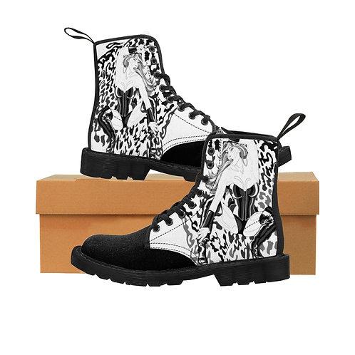 Phoenix the Jaguar Men's Canvas Boots - black toe