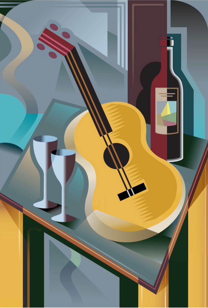 Cubist bass and bottle.png