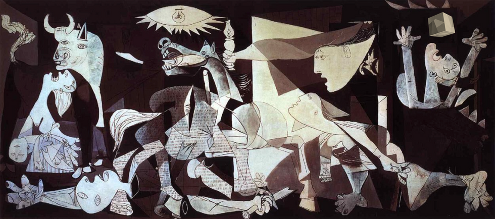 Picasso's Guernica  - Cube.png