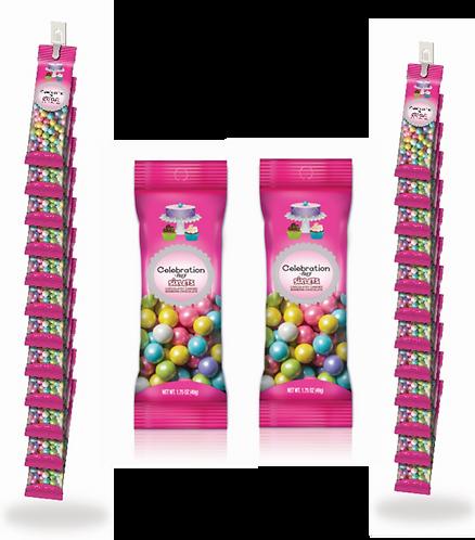 Shimmer Spring Mix Sixlets Peg Pouch Clip Strip