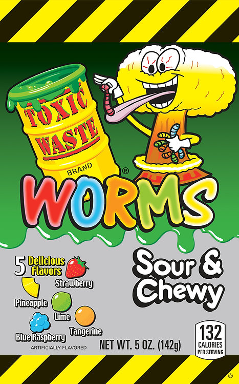 Toxic Waste Sour & Chewy Worms