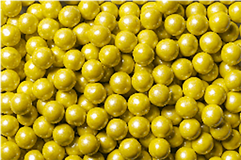 Shimmer Sixlets BULK 2lb Bag - Yellow