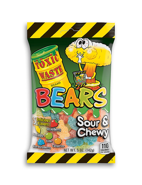 Toxic Waste Sour & Chewy Bears