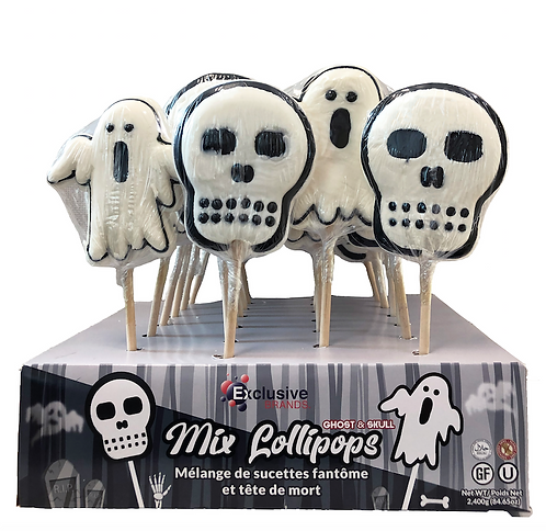 Ghosts and Skulls Lollipops Display