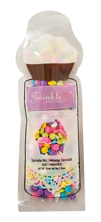 Sprinkles 30g Daisy Shapes  Pouch