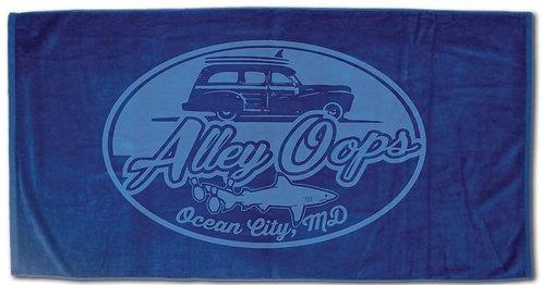 Alley Oops Logo Beach Towel
