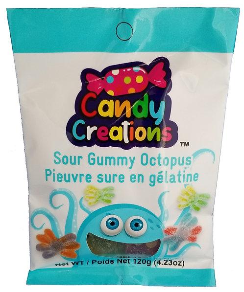 Sour Gummy Octopus bag