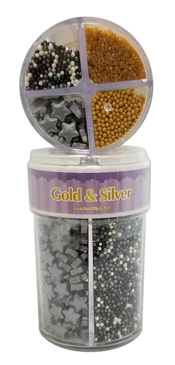 4 Cell 120g Gold & Silver
