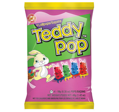 Easter Teddy Pop Peg Bag Clipstrip 4/6