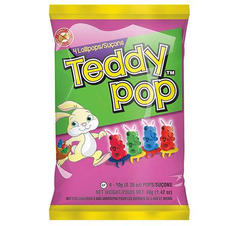 Easter Teddy Pop Peg 4ct  Bag