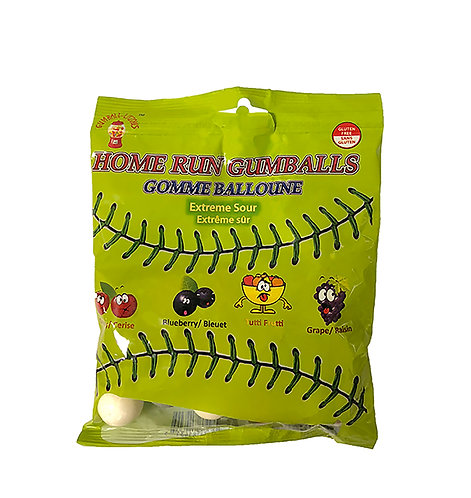 Sour Baseball Gum Gumball