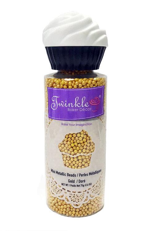Mini Metallic Beads - Gold