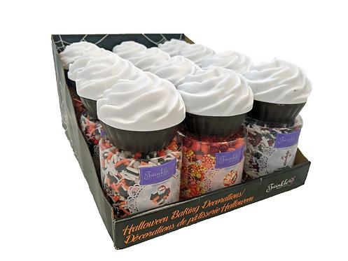 Halloween Baking Shapes & Sprinkles PDQ Tray 12ct