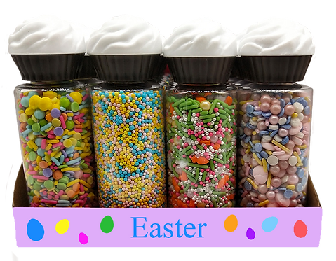 Shape Sprinkles Combo Bunny/Baby Chick/Carrot Mix/Flowers PDQ