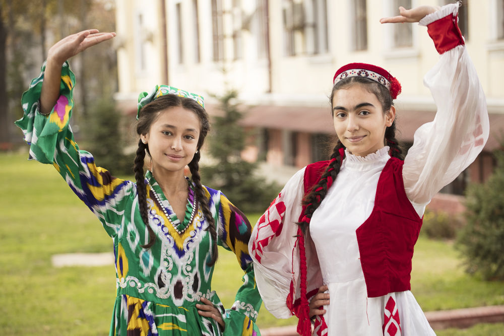 Two young Tajik