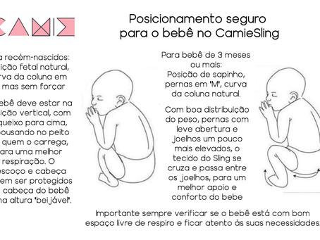 Posicionamento Seguro para o Bebê no CamieSling