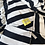 Thumbnail: Camie Sling Listrado Preto e Off White