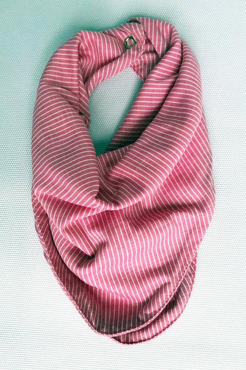 Babador Lenço Listra Pink