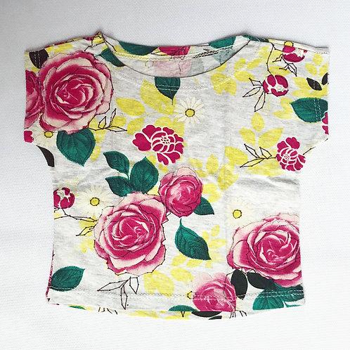 Camisetinha Floral Mescla