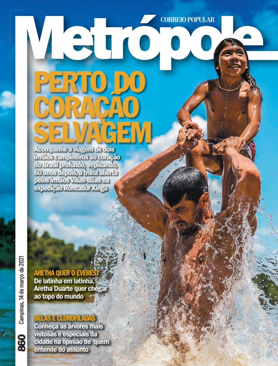 Capa da revista metrópole grupo RAC Campinas