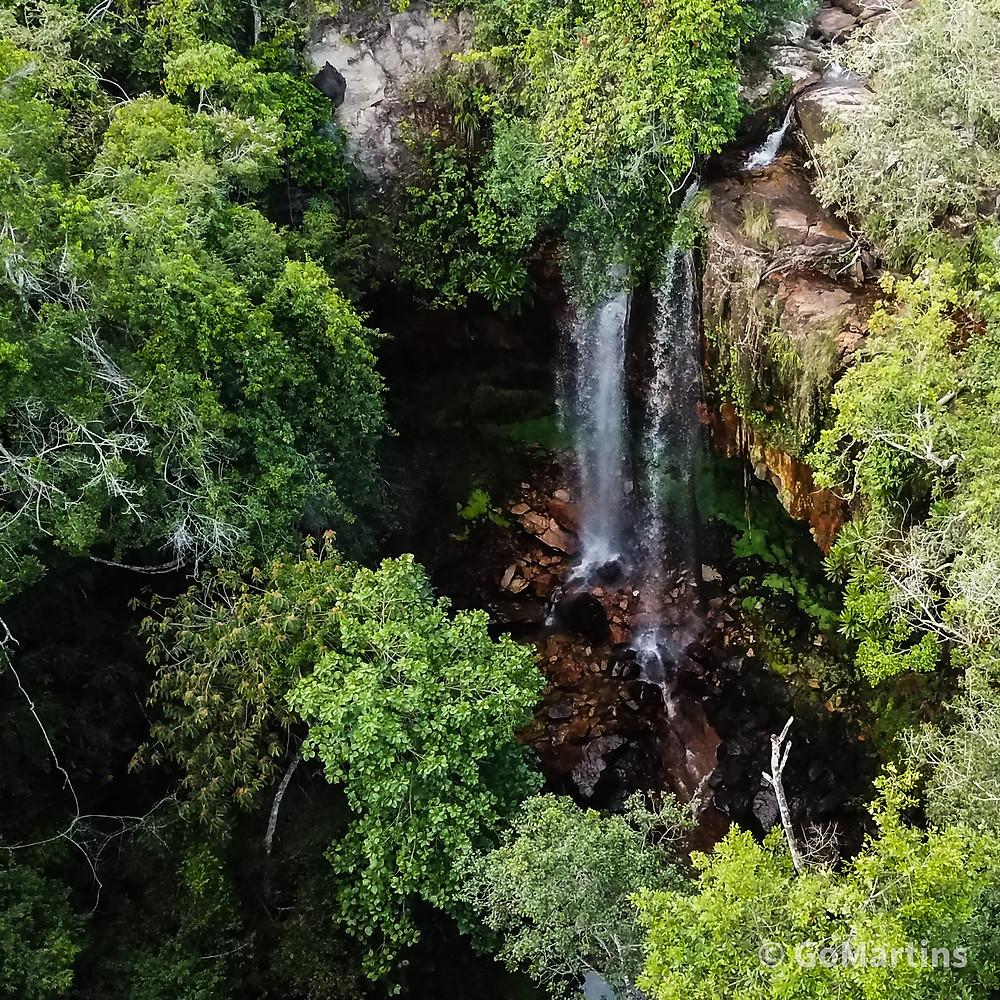 GoMartins Drone Vista Aérea Cachoeira Almas Gêmeas Chapada dos Guimarães