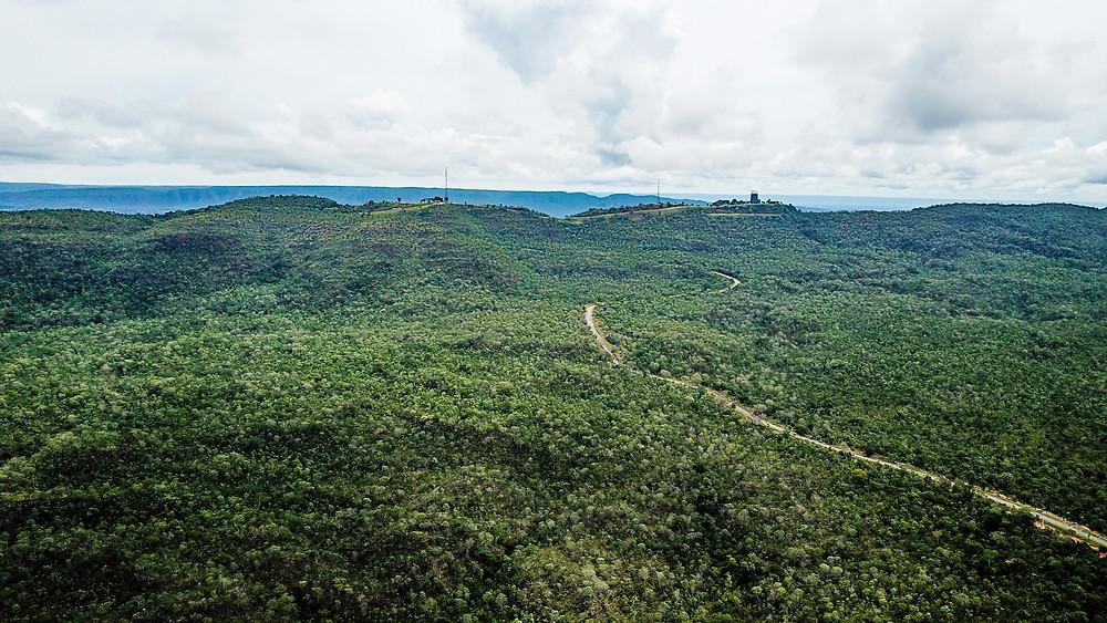 Parque Estadual da Serra Azul vista aérea