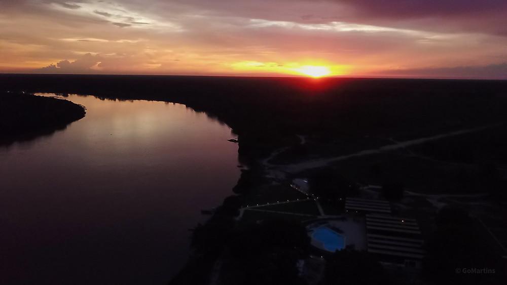 pôr do sol GoMartins Pantanal  hotel santa rosa