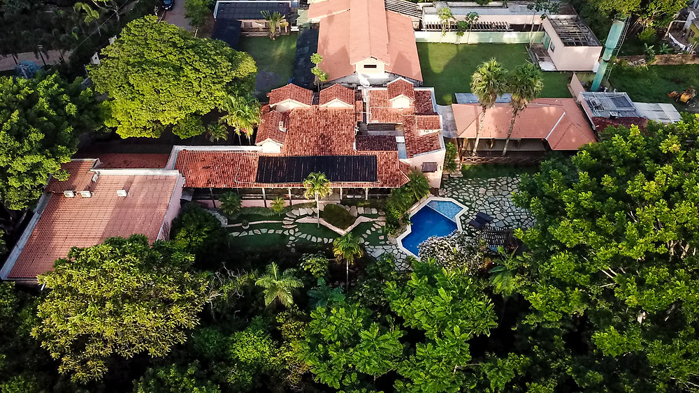 GoMartins Vista aérea drone Casa da Quineira com piscina