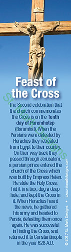 Feast of the Cross Bookmark