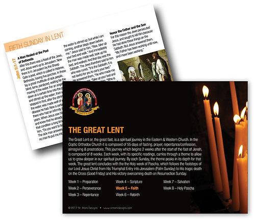 Lent Readings - 5th Sunday - Faith