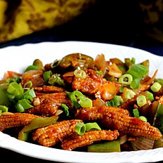 Crispy chili baby corn