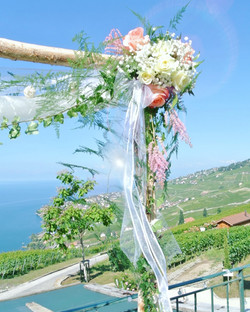 arche fleuri mariage civile