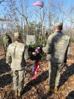 Wreath Laying at ceremony