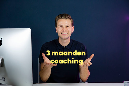 3 uur coaching: Bijv. 1 uur per maand