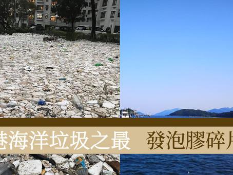 香港海洋垃圾之最 — 發泡膠
