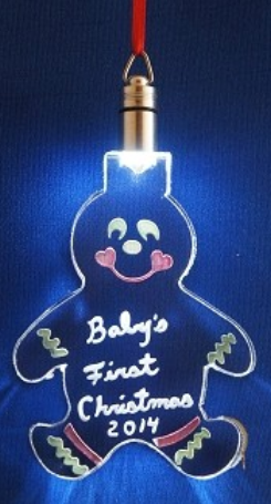 LIGHTED ORNAMENT - GINGERBREAD MAN