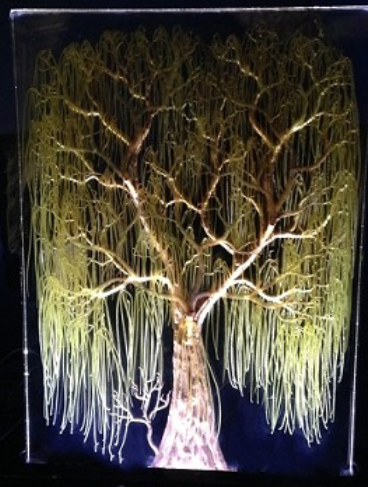 WEEPING WILLOW COLORED - LED BLACK LIGHT BASE
