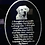 Thumbnail: CUSTOM PHOTO DOG MEMORIAL WITH POEM PICTURED ON AN(LED LIGHT BASE AVAILABLE SEPA