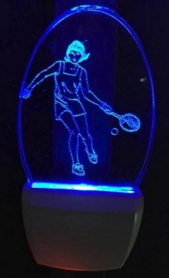 FEMALE TENNIS PLAYER NIGHT LIGHT