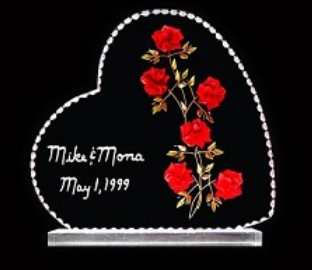 ROSE CAKE TOPPER/WEDDING GIFT