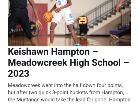 Keishawn Hampton is going to be real good for a long time