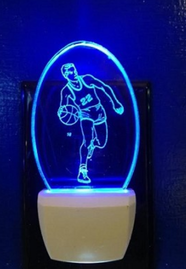 MALE BASKETBALL PLAYER NIGHT LIGHT