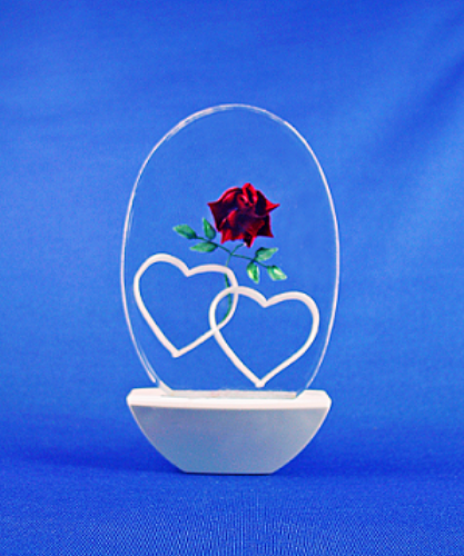 ROSE WITH HEARTS NIGHT LIGHT