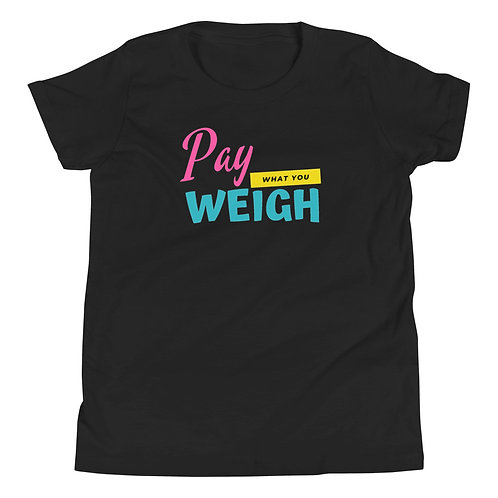 Pay what you weigh Youth Short Sleeve T-Shirt