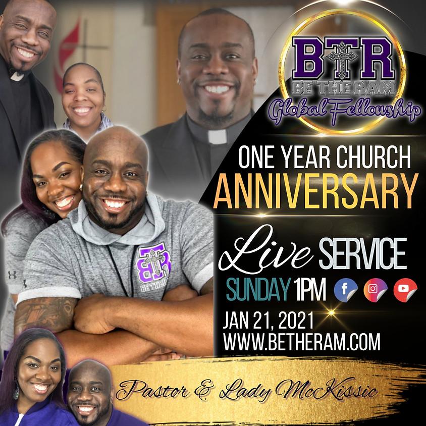 One Year Church Anniversary Service