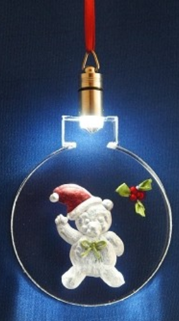 LIGHTED ORNAMENT - TEDDY BEAR