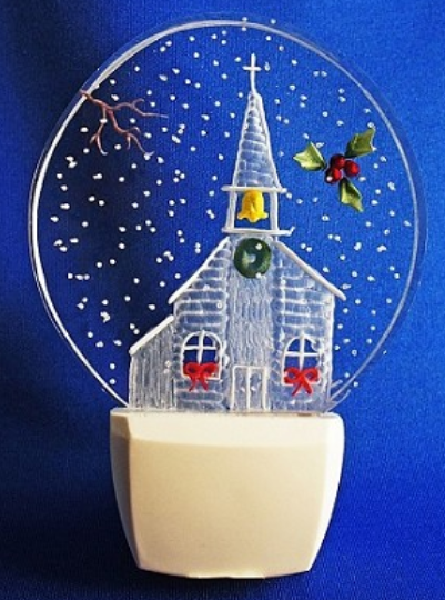 CHRISTMAS CHURCH NIGHT LIGHT